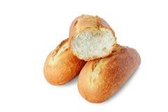 Fresh baguette on white background Stock Photo