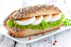 Fresh Baguette With Egg Royalty Free Stock Photos