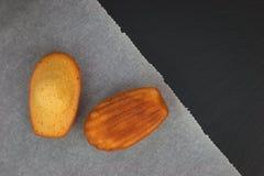 Fresh bake mini cake madeleines Stock Photos