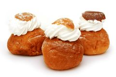 Fresh bake rolls with a cream Stock Photography