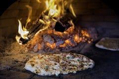 Fresh Baked Alsatian Tarte Flambee ( Flame Cake, Flammkuchen ) Stock Photography