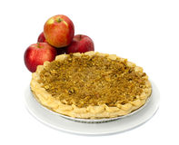 Fresh baked apple pie with apples Stock Images