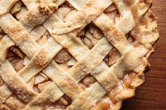 Fresh baked apple pie Stock Photos