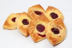 Fresh baked aweet Cherry Danish Pastry. Royalty Free Stock Photo