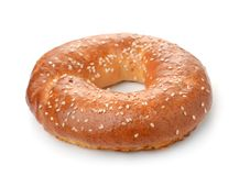 Fresh baked bagel Royalty Free Stock Images