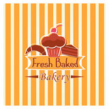 Fresh Baked Bakery royalty free illustration