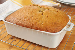 Fresh baked banana bread Stock Photography