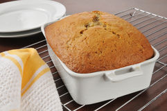 Fresh baked banana bread Royalty Free Stock Images