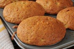 Fresh baked banana muffins Stock Images