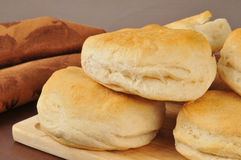 Fresh baked biscuits Stock Photos