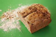 Fresh baked bread. With cereals Stock Photography