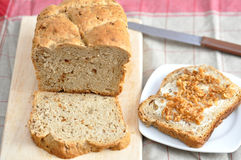 Fresh baked bread. Fresh baked and sliced bread Stock Image