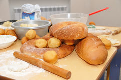 Fresh-baked bread Stock Photos