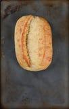 Fresh Baked Bread Baking Sheet Stock Photography