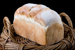 Fresh Baked Bread In Basket Royalty Free Stock Photo