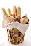 Fresh baked bread on basket Royalty Free Stock Photography