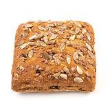 Fresh baked bread or bun with sesame and sunflower seeds topping Royalty Free Stock Photo