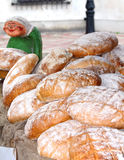 Fresh baked bread at the country market Royalty Free Stock Image