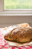 Fresh baked bread in kitchen Royalty Free Stock Image