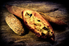 Fresh baked bread with wheat Royalty Free Stock Image