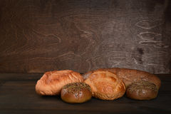 Fresh baked bread royalty free stock photos