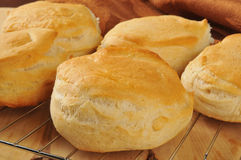 Fresh baked buttermilk biscuits. Cooling on a wire rack Stock Image