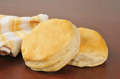 Fresh baked buttermilk biscuits Royalty Free Stock Images