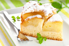 Fresh baked cake with apple Royalty Free Stock Images