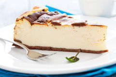 Fresh baked cheesecake Royalty Free Stock Photos