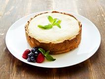 Fresh baked cheesecake Stock Photo