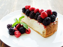 Fresh baked cheesecake Royalty Free Stock Images