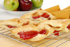 Fresh baked cherry turnovers Royalty Free Stock Photo