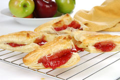 Fresh baked cherry turnovers Royalty Free Stock Images