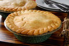 Fresh baked chicken pot pie Stock Image