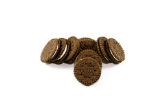 Fresh Baked Chocolate Biscuits Stock Images