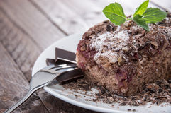 Fresh baked Chocolate Cake Royalty Free Stock Images