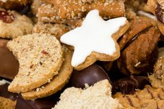 Fresh baked christmas cookies Stock Photos