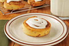 Fresh baked cinnamon rolls Royalty Free Stock Images