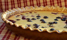 Fresh baked clafoutis Royalty Free Stock Photography