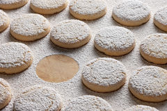 Row of cookies Stock Images
