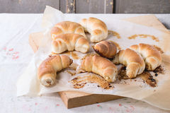Fresh baked crescent rolls Stock Image