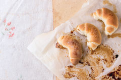 Fresh baked crescent rolls Stock Photo