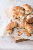 Fresh baked crescent rolls Stock Photos