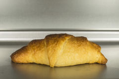 Fresh Baked Croissant in Oven Stock Image