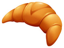 Fresh baked croissant on white Stock Images