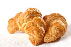 Fresh baked croissants royalty free stock photography