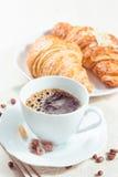 Fresh baked croissants Stock Photos