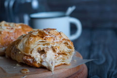 Fresh baked croissants Royalty Free Stock Images
