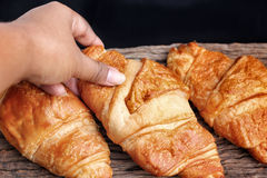 Fresh baked croissants Stock Photo