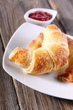 Fresh baked croissants Stock Images